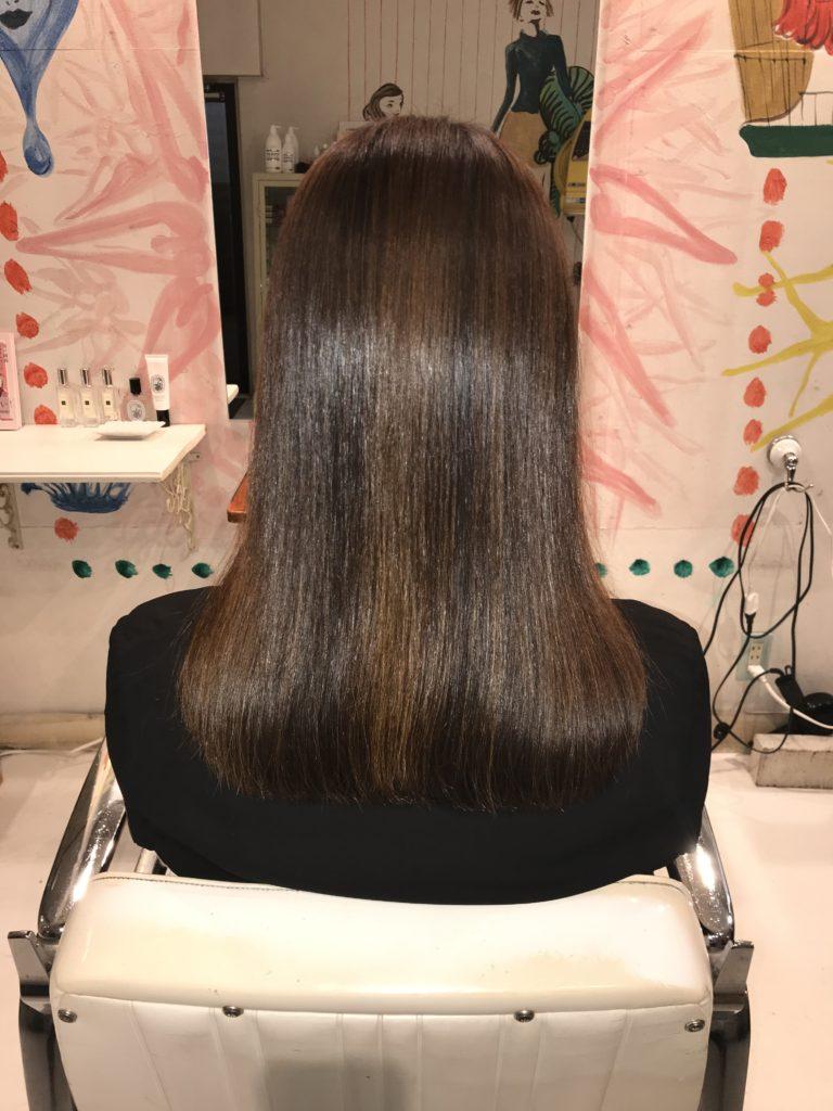 ヘアーハローの髪質改善トリートメント(ヘアカラー)